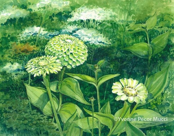 Whitegarden at Longwood by Yvonne Pecor Mucci