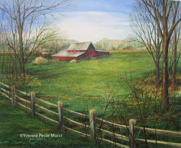 Southern New Jersey Barn – 19 x 23 Framed