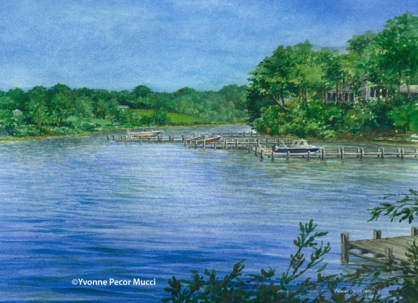View From The Dock, Fairlee MD – 11 x 17 Framed