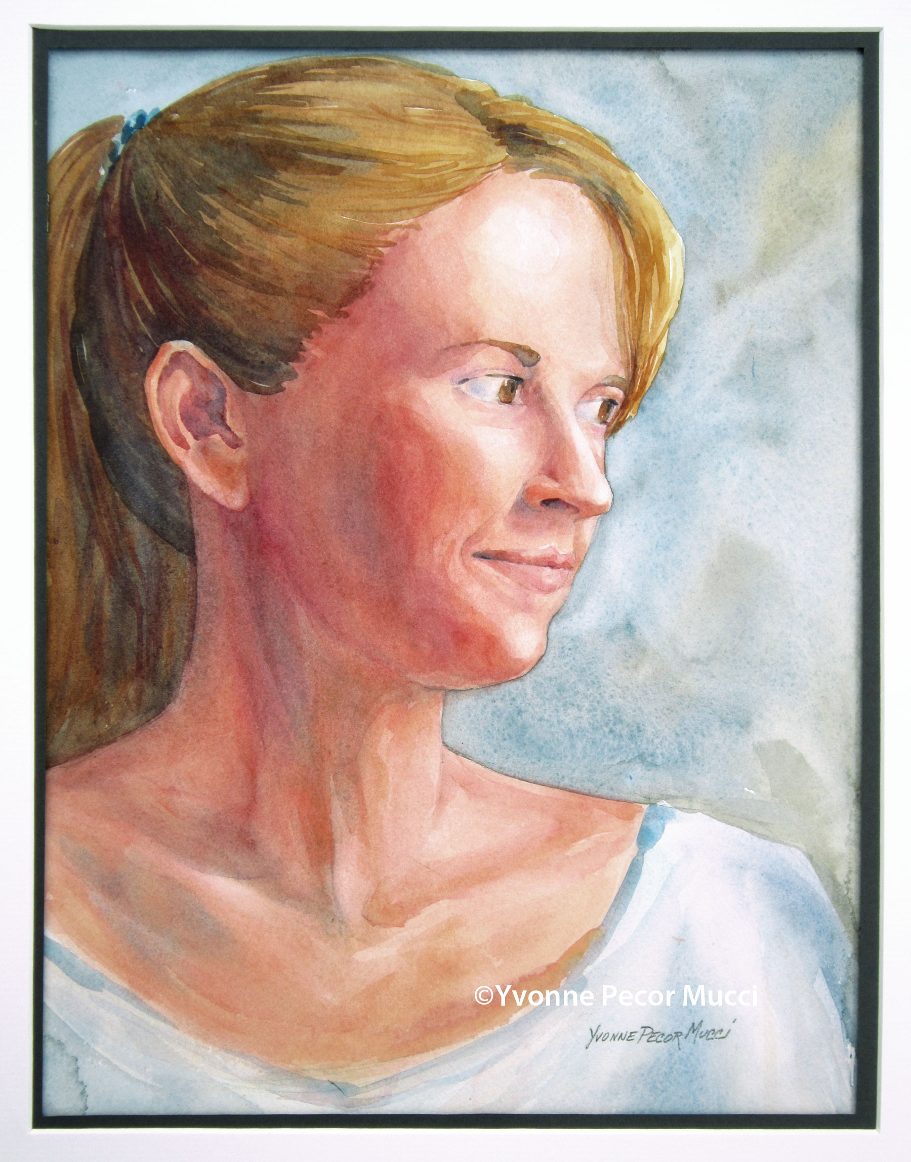 My Girl watercolor by Yvonne Pecor Mucci
