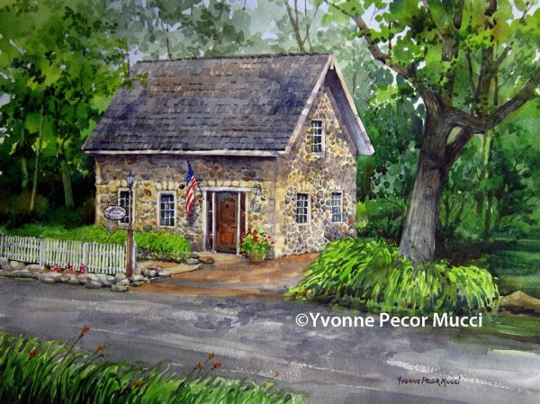 Apothecary watercolor by Yvonne Pecor Mucci