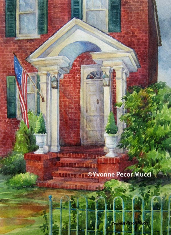 Libbys Place watercolor by Yvonne Pecor Mucci (Available, Framed 11 x 14)